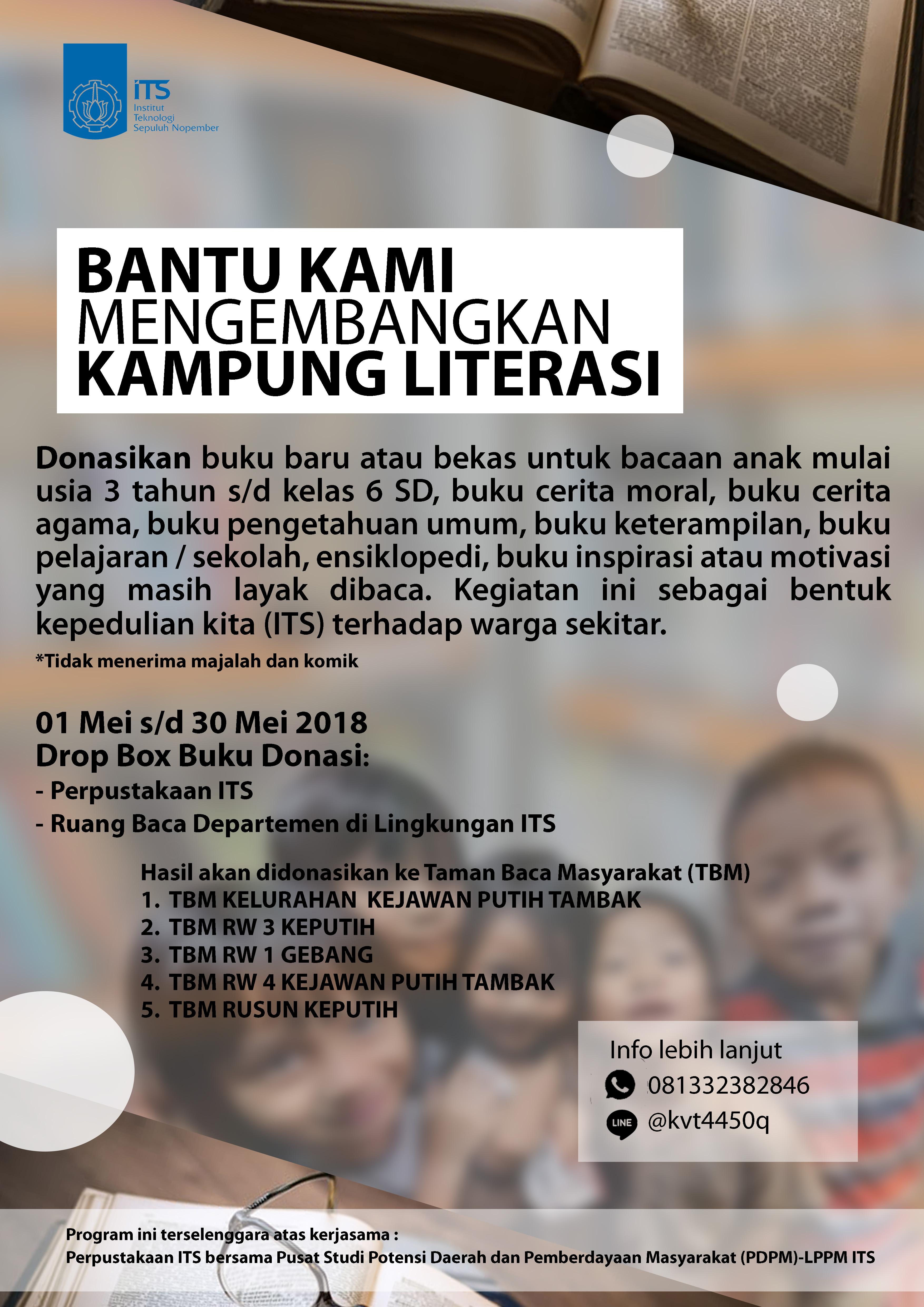 Bantu Kami Mengembangkan Kampung Literasi