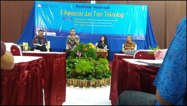 Seminar Nasional e-Resources Dan Tren Teknologi UAJY