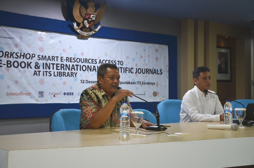 Perpus ITS Gelar Workshop Smart E-Resources Access untuk maksimalkan pemanfaatan E-Book & E-Journal