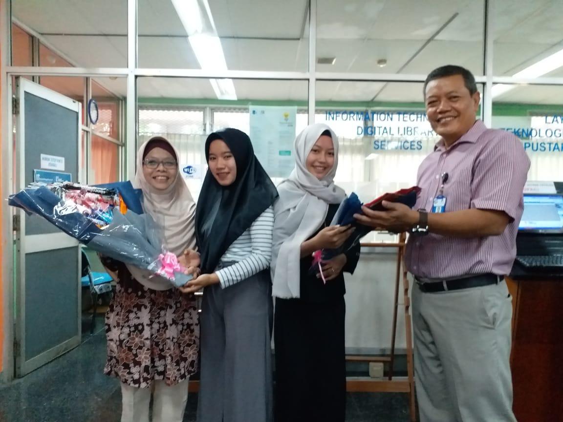 Siswa-Siswi SMK Adhikawacana, pamit setelah 3 bulan lakukan Prakerin di Perpustakaan ITS